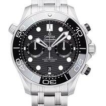 Omega Seamaster Diver 300 M Сталь 44mm Черный Без цифр
