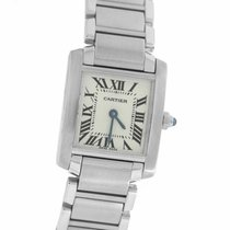Cartier Tank Française Steel 25mm Roman numerals United States of America, New York