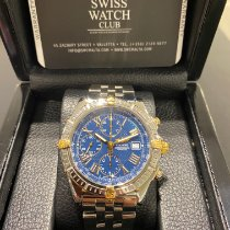 Breitling Crosswind Racing Gold/Steel 43mm Blue Roman numerals