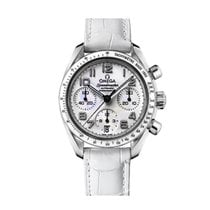 Omega Speedmaster Ladies Chronograph occasion 38mm Blanc Cuir