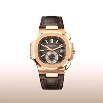 Patek Philippe Nautilus Pозовое золото 40.5mm Коричневый Без цифр