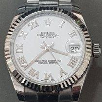 Rolex Acero Automático Plata Romanos 31mm usados Lady-Datejust