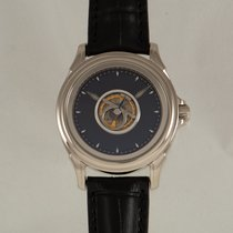 Omega De Ville Central Tourbillon Or blanc Bleu