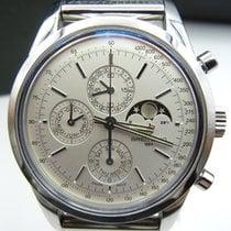 Breitling Transocean Chronograph 1461 Acero 43mm Blanco Arábigos