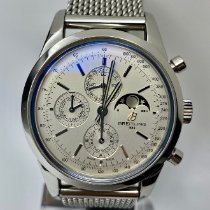 Breitling Transocean Chronograph 1461 Steel 43mm Silver No numerals