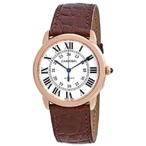 Cartier Ronde Solo de Cartier Rose gold 36mm Silver Roman numerals United States of America, New York, New York