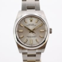 Rolex Oyster Perpetual 34 Stål 34mm Silver Inga siffror