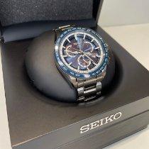 Seiko Astron GPS Solar Chronograph pre-owned 45mm Blue Perpetual calendar Steel