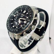 Seiko Astron GPS Solar Chronograph Titanium 46.7mm Black No numerals United States of America, New York, NY
