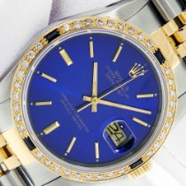 Rolex Datejust Gold/Steel 36mm Blue No numerals United States of America, California, Los Angeles