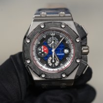 Audemars Piguet Platinum Automatic Black 44mm pre-owned Royal Oak Offshore Grand Prix