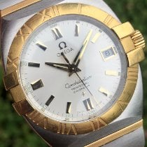 Omega Constellation Double Eagle pre-owned Silver Gold/Steel