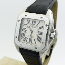 Cartier Santos 100 Steel 33mm White Roman numerals