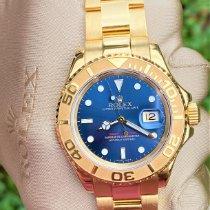 Rolex Or jaune Remontage automatique Bleu Sans chiffres 40mm occasion Yacht-Master 40