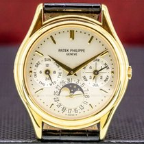 Patek Philippe Perpetual Calendar Yellow gold 36mm Silver United States of America, Massachusetts