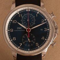 IWC Portuguese Yacht Club Chronograph Staal 45mm Zwart Arabisch Nederland, Amstelveen