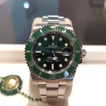 Rolex Submariner Date Steel 40mm Green No numerals Malaysia