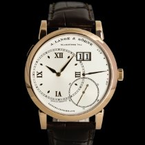 A. Lange & Söhne Red gold Manual winding Silver 41mm pre-owned Grand Lange 1