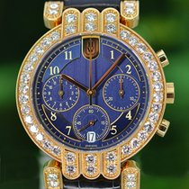 Harry Winston Yellow gold Automatic Blue 35mm pre-owned Premier