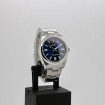 Rolex Oyster Perpetual Aço 41mm Azul Sem números
