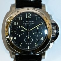Panerai Luminor Chrono Acero 44mm Negro Arábigos