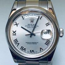 Rolex Day-Date 36 118209 RHODIUM DIAL. Zeer goed Witgoud 36mm Automatisch