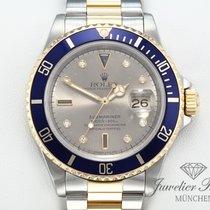 Rolex Submariner Date Or/Acier 40mm Gris