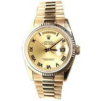 Rolex Day-Date 36 Or jaune 36mm Champagne Romains