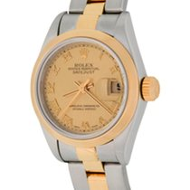 Rolex Oyster Perpetual Lady Date Steel 25mm Champagne Roman numerals United States of America, Texas, Dallas