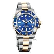 Rolex Submariner Date Gold/Steel 41mm Blue No numerals