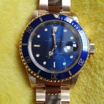 Rolex Submariner Date 16618 Очень хорошее Желтое золото 40mm Автоподзавод