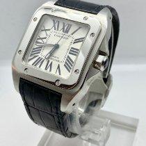 Cartier Santos 100 Stahl Weiß Römisch Schweiz, lugano