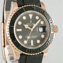 Rolex Oro rojo Automático Negro 40mm usados Yacht-Master 40