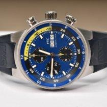 IWC Aquatimer Chronograph Aço 44mm Azul Sem números