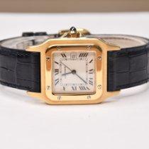 Cartier Santos Galbée Желтое золото 29mm Белый