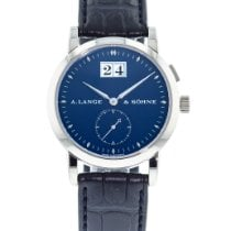 A. Lange & Söhne pre-owned Manual winding 34mm Blue Sapphire crystal
