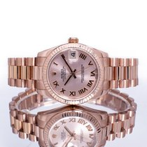 Rolex Or rose Remontage automatique Rose Romains 31mm occasion Datejust