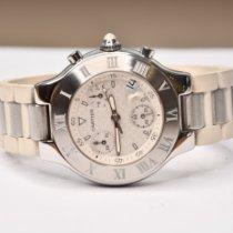 Cartier 21 Chronoscaph Сталь 38mm Белый