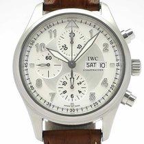IWC Pilot Spitfire Chronograph occasion 42mm Argent Chronographe Cuir