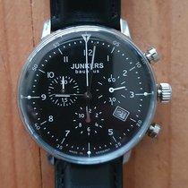 Junkers Steel Quartz Black Arabic numerals 40mm pre-owned Bauhaus