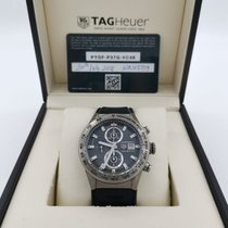 TAG Heuer Titanium Automatic Grey 43mm pre-owned Carrera Calibre HEUER 01