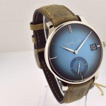 H.Moser & Cie. Venturer Oro blanco Azul