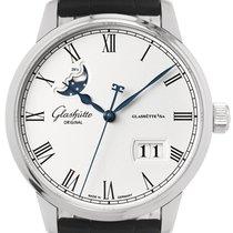 Glashütte Original Senator Excellence occasion 40mm Argent Phase lunaire Date Cuir