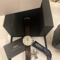 IWC Portuguese Chronograph pre-owned 41mm Silver Fold clasp