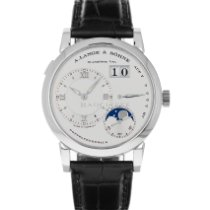 A. Lange & Söhne Platinum Manual winding Silver Roman numerals 38mm pre-owned Lange 1