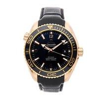 Omega Pозовое золото Автоподзавод Черный Aрабские 45.5mm подержанные Seamaster Planet Ocean