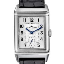 Jaeger-LeCoultre Reverso Classique pre-owned 45.6mm Silver Leather