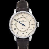 Meistersinger Perigraph Steel 43mm Champagne
