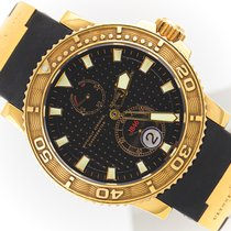 Ulysse Nardin Yellow gold Automatic Black 42,7mm pre-owned Maxi Marine Diver