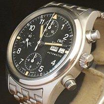 IWC Pilot Chronograph Acciaio 39mm Nero Arabi Italia, TORINO